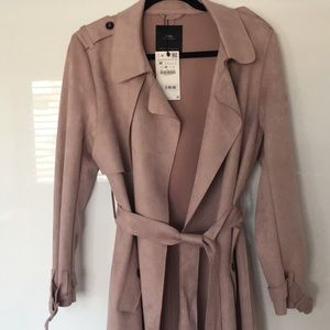 Zara Suede-like Trench